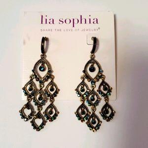 Lia Sophia Teardrop Earrings NWT